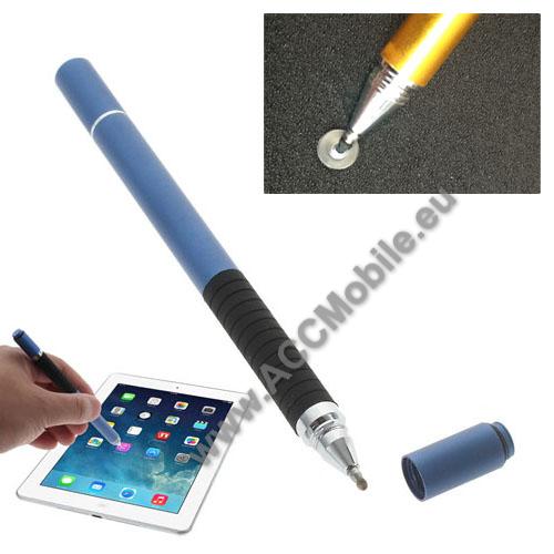 Érintőképernyő ceruza / golyós toll - kapacitív kijelzőhöz, KÉZÍRÁSRA, RAJZOLÁSRA ALKALMAS - KÉK