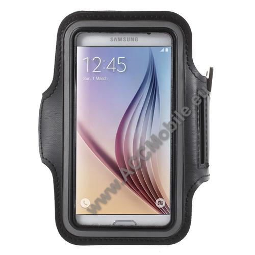 HUAWEI P8 liteSPORT tok / karpánt - FEKETE - SAMSUNG SM-G920 Galaxy S6 / SAMSUNG SM-G925F Galaxy S6 Edge - 145 x 75mm