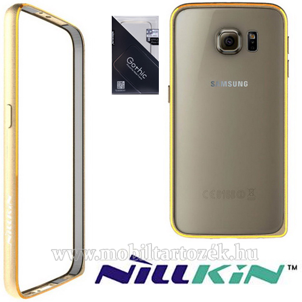 NILLKIN Gothic Border Series műanyag védő keret / bumper - ARANY - SAMSUNG SM-G920 Galaxy S6 - GYÁRI
