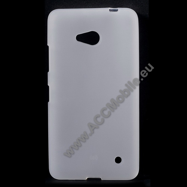 Szilikon védő tok / hátlap - FLEXI - FEHÉR - MICROSOFT Lumia 640 Dual SIM / Lumia 640 LTE / Lumia 640 LTE Dual SIM