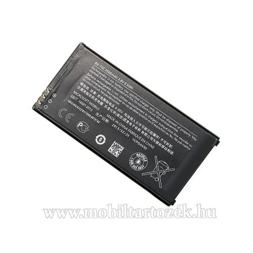MICROSOFT BV-T5C akku 2500 mAh LI-ION - MICROSOFT Lumia 640 Dual SIM / Lumia 640 LTE / Lumia 640 LTE Dual SIM - GYÁRI - Csomagolás nélküli