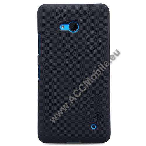 NILLKIN műanyag védő tok / hátlap - képernyővédő fólia - FEKETE - MICROSOFT Lumia 640 Dual SIM / Lumia 640 LTE / Lumia 640 LTE Dual SIM - GYÁRI