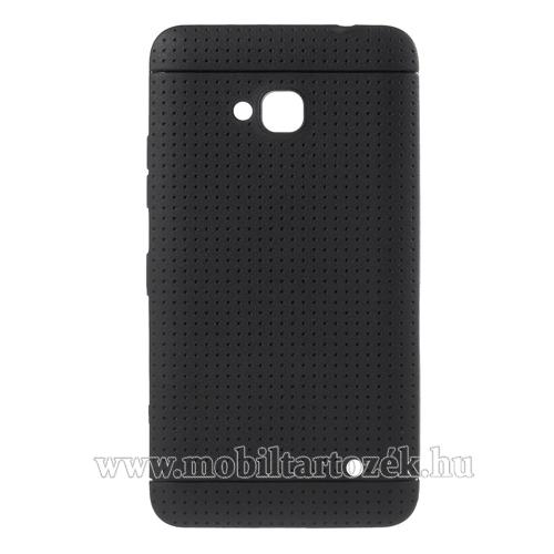 Szilikon védő tok / hátlap - lyukacsos mintázat - FEKETE - MICROSOFT Lumia 640 Dual SIM / Lumia 640 LTE / Lumia 640 LTE Dual SIM