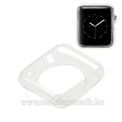 Szilikon védő tok - ÁTLÁTSZÓ - Apple Watch 38mm