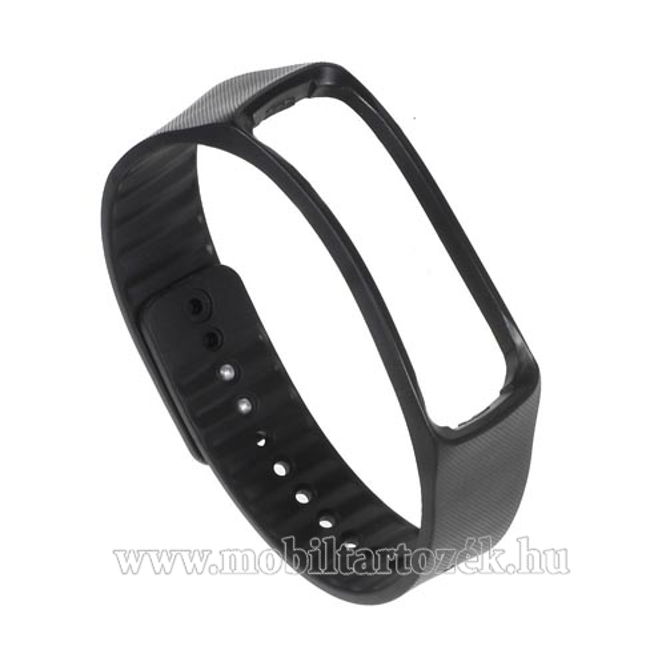 Okosóra szíj - FEKETE - Samsung Galaxy Gear Fit R350 Smart Watch