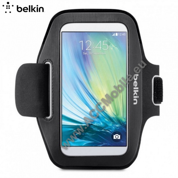 BELKIN SLIMFIT sport karpánt - F8M941BTC00 - FEKETE - SAMSUNG SM-G920 Galaxy S6 / SAMSUNG SM-G925F Galaxy S6 Edge - GYÁRI