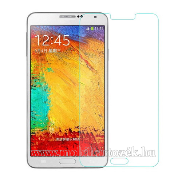 Előlap védő karcálló edzett üveg - 0,3 mm vékony, 9H, A képernyő sík részét védi - SAMSUNG SM-N920C Galaxy Note 5.