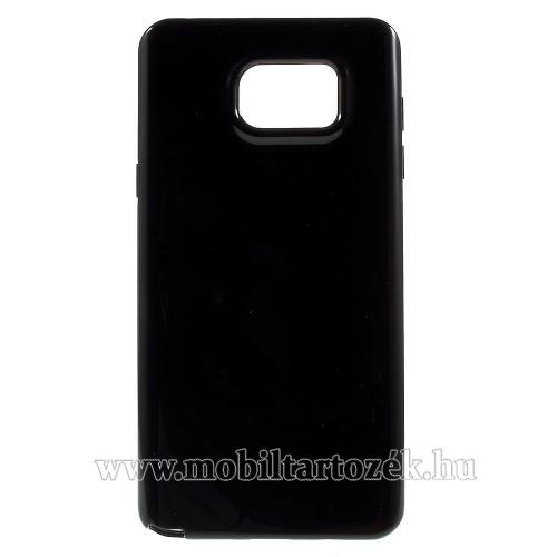 Szilikon védő tok / hátlap - FEKETE - SAMSUNG SM-N920C Galaxy Note 5