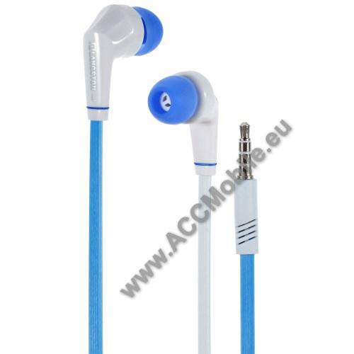 HUAWEI MediaPad T5 10Langston JD88 univerzális sztereo headset - 3,5mm jack csatlakozó - FEHÉR / KÉK