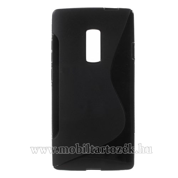 Szilikon védő tok / hátlap - FÉNYES / MATT - FEKETE - OnePlus 2