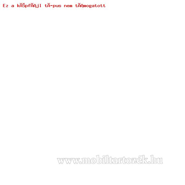 Notesz tok / flip tok - VIRÁG MINTÁS - asztali tartó funkciós, oldalra nyíló, rejtett mágneses záródás, bankkártyatartó zseb, strasszos minta - FEHÉR / KÉK - SAMSUNG SM-N920C Galaxy Note 5.