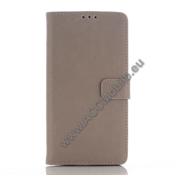Notesz / flip tok - oldalra ny�l�, rejtett m�gneses, �ll�, asztali tart� funkci�, bankk�rtya tart� - SZ�RKE - SONY Xperia Z5 Premium / Z5 Premium Dual