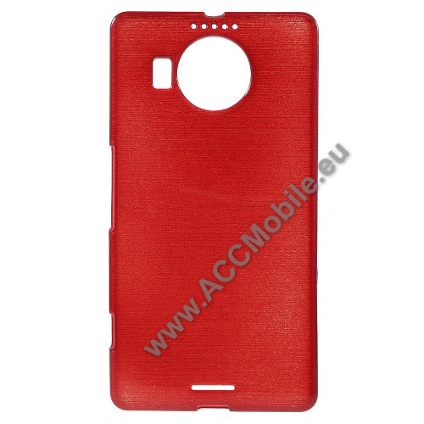 Szilikon védő tok / hátlap - szálcsiszolt mintázat - PIROS - MICROSOFT Lumia 950 XL / MICROSOFT Lumia 950 XL Dual SIM