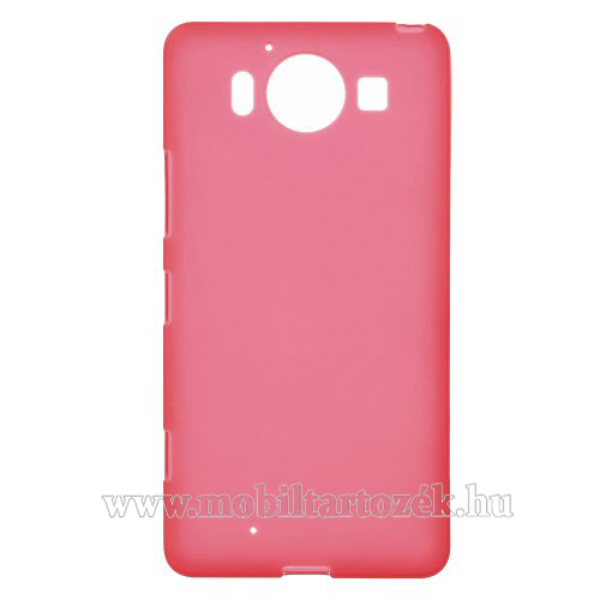 Szilikon védő tok / hátlap - FLEXI - PIROS - MICROSOFT Lumia 950 / MICROSOFT Lumia 950 Dual SIM