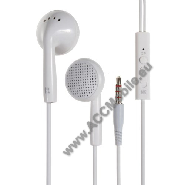 HUAWEI MediaPad T5 10LANGSTON IN2 univerzális sztereo headset - 3,5mm jack csatlakozó, felvevő gombos - FEHÉR