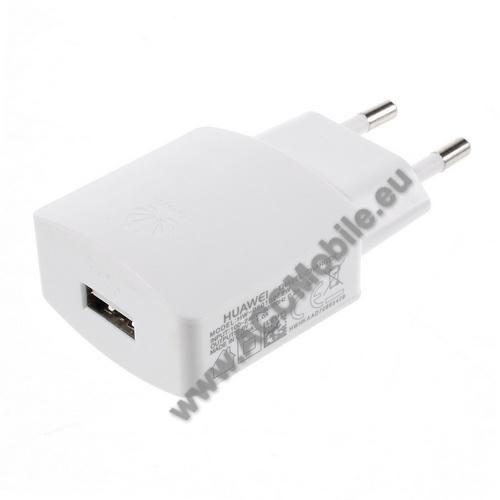 HUAWEI P8 liteHUAWEI hálózati töltő - USB aljzattal, 5V/1000mAh - FEHÉR - HW-050100E2W - GYÁRI - Csomagolás nélküli