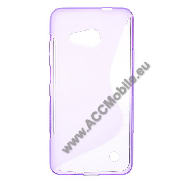 Szilikon védő tok / hátlap - FÉNYES / MATT - LILA - MICROSOFT Lumia 550