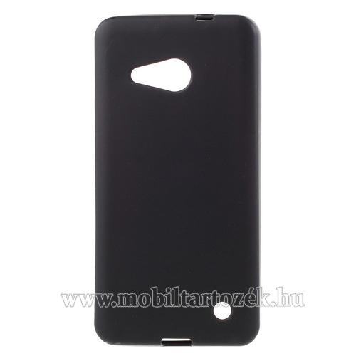 Szilikon védő tok / hátlap - FLEXI - FEKETE - MICROSOFT Lumia 550