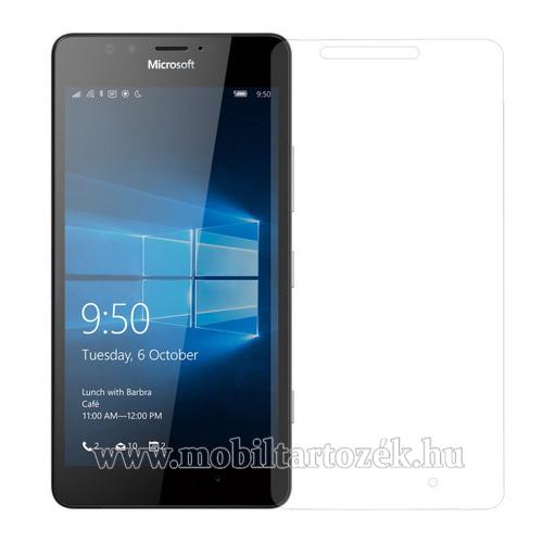Előlap védő karcálló edzett üveg - 0,3 mm vékony, 9H, Arc Edge, A képernyő sík részét védi - MICROSOFT Lumia 950 / MICROSOFT Lumia 950 Dual SIM