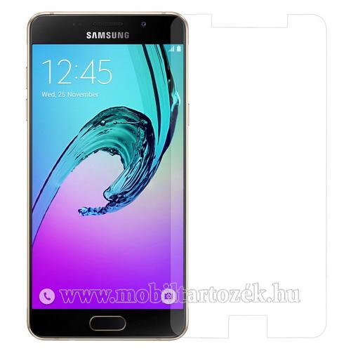 Előlap védő karcálló edzett üveg - 0,3 mm vékony, 9H, Arc Edge, A képernyő sík részét védi - SAMSUNG SM-A510F Galaxy A5 (2016)