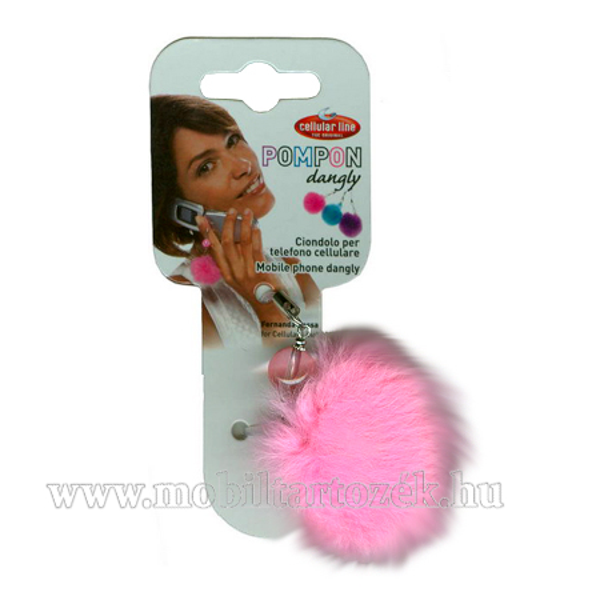 Telefondísz - POMPON - rózsaszín