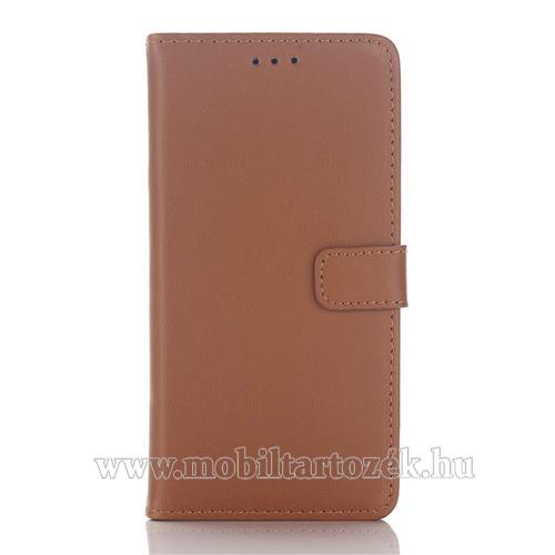 Notesz / flip tok - BARNA - oldalra nyíló, rejtett mágneses, álló, asztali tartó funkció, bankkártya tartó - SAMSUNG SM-A510F Galaxy A5 (2016)