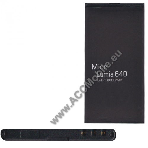 Akku 2600 mAh LI-ION (BV-T5C kompatibilis) - MICROSOFT Lumia 640 Dual SIM / Lumia 640 LTE / Lumia 640 LTE Dual SIM