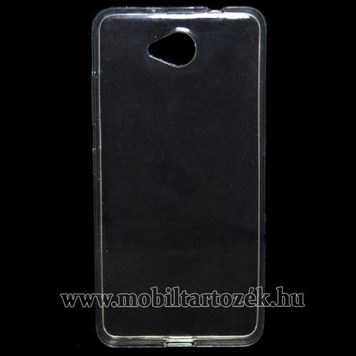 Szilikon védő tok / hátlap - ULTRAVÉKONY! 0,6mm - ÁTLÁTSZÓ - MICROSOFT Lumia 650