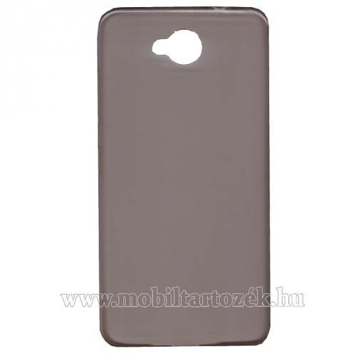 Szilikon védő tok / hátlap - ULTRAVÉKONY! 0,6mm - FÜSTSZÍNÛ - MICROSOFT Lumia 650