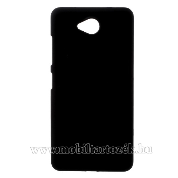 Műanyag védő tok / hátlap - gumírozott - FEKETE - MICROSOFT Lumia 650