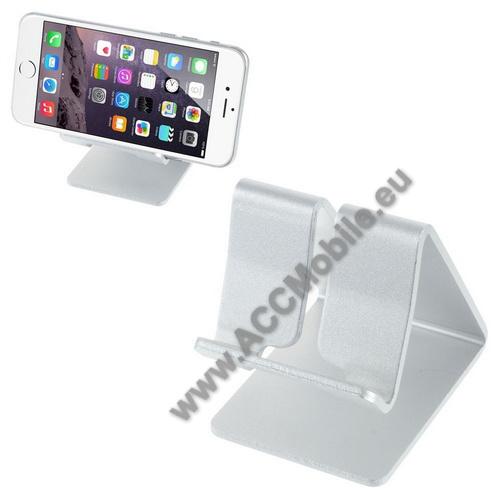 HUAWEI P8 liteUNIVERZÁLIS alumínium asztali tartó / állvány - EZÜST
