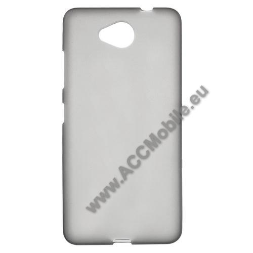 Szilikon védő tok / hátlap - FLEXI - SZÜRKE - MICROSOFT Lumia 650