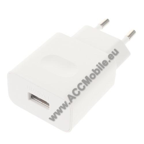 HUAWEI P8HUAWEI hálózati töltő USB aljzattal - FEHÉR - gyorstöltő, 5V/2A vagy 9V/2A Hisilicon fast charge, HW-059200EHQ - GYÁRI