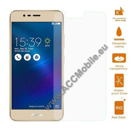 Elõlap védõ karcálló edzett üveg - 0,3 mm vékony, 9H, Arc Edge - ASUS Zenfone 3 Max (ZC520TL)