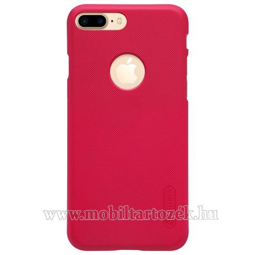 NILLKIN műanyag védő tok / hátlap - PIROS - képernyővédő fólia - APPLE iPhone 7 Plus (5.5) - GYÁRI