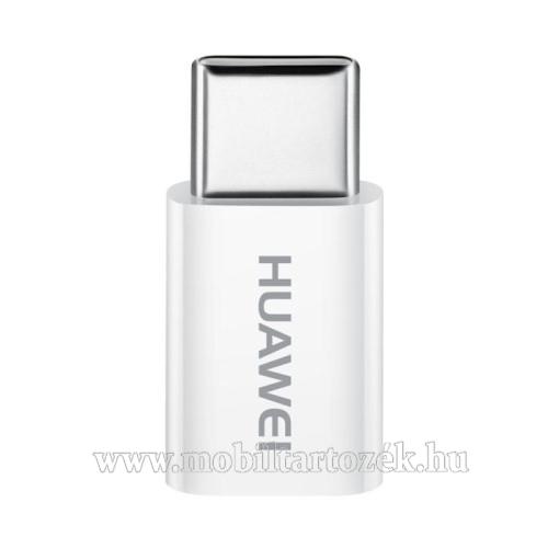 HUAWEI AP52 adapter microUSB 2.0-át USB 3.1 Type C-re alakítja - támogatott az adatátvitel és a Fast Charge - FEHÉR - GYÁRI