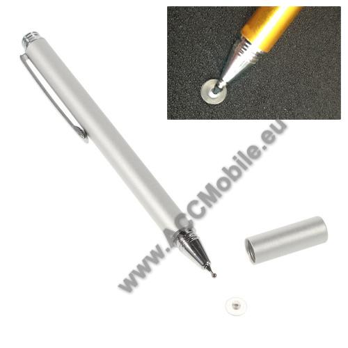 Érintőképernyő ceruza - kapacitív kijelzőhöz, KÉZÍRÁSRA, RAJZOLÁSRA IS ALKALMAS - EZÜST