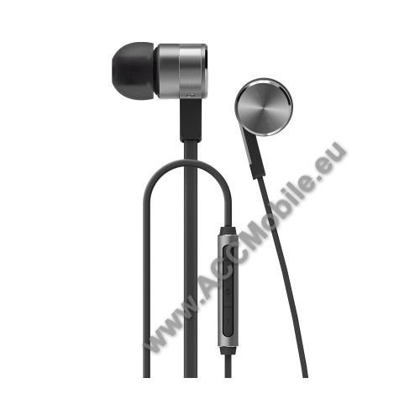 HUAWEI Honor AM13 Hi-Fi sztereo headset - 3,5mm Jack, mikrofon, felvevő és hangerő szabályzó gomb - SZÜRKE - GYÁRI