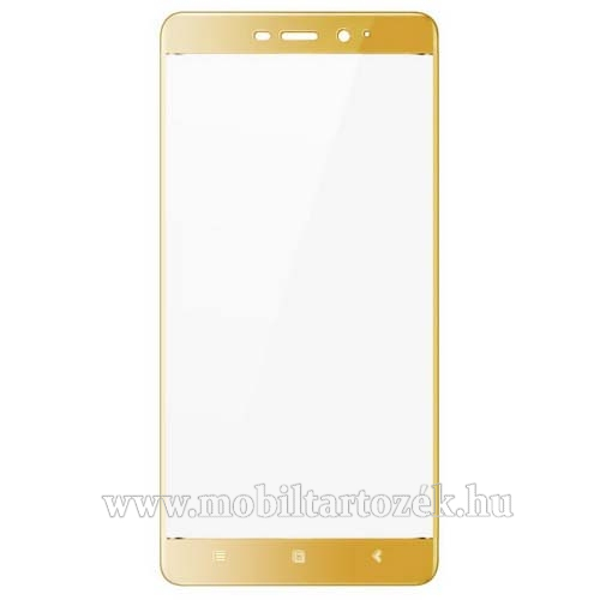 IMAK elõlap védõ karcálló edzett üveg - ARANY - 9H - Xiaomi Redmi 4 / Xiaomi Redmi 4 Prime / Xiaomi Redmi 4 Pro - A TELJES KIJELZÕT VÉDI! - GYÁRI