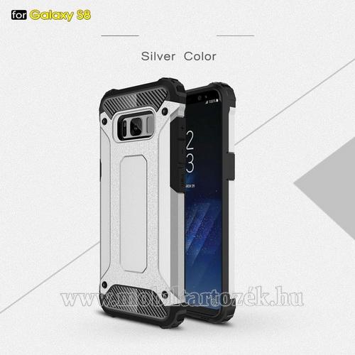 OTT! MAX DEFENDER műanyag védő tok / hátlap - EZÜST - szilikon belső, ERŐS VÉDELEM! - SAMSUNG SM-G950 Galaxy S8