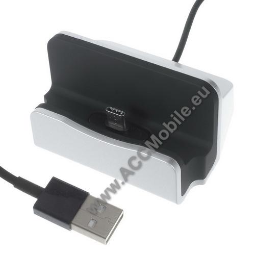 APPLE iPad Pro 11 (2018)Asztali töltő / dokkoló - adatátviteli állvány, USB 3.1 Type C, 1m-es kábellel - EZÜST