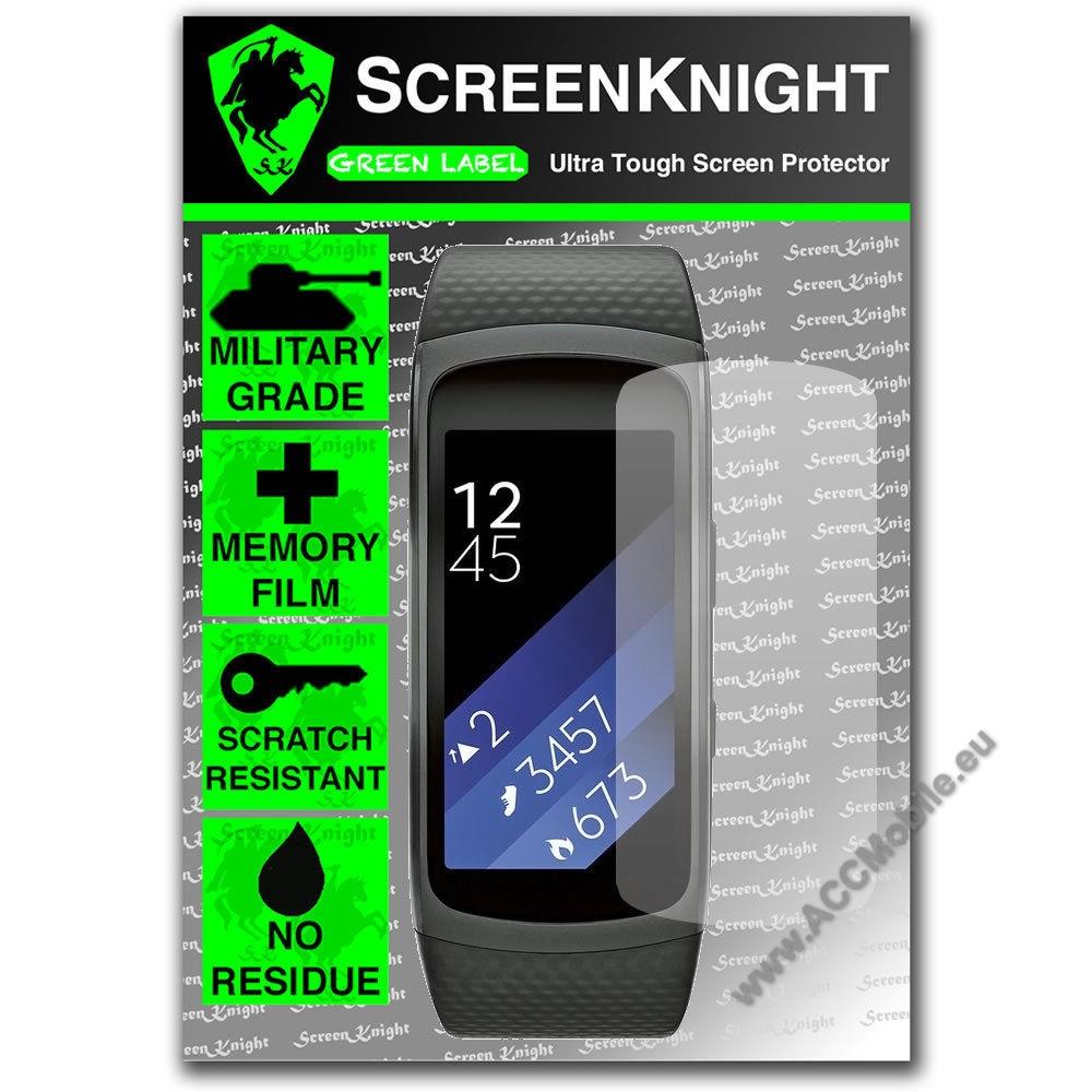 SCREENKNIGHT TPU képernyõvédõ fólia - Clear - 1db, törlõkendõvel - SAMSUNG Gear Fit 2 SM-R360
