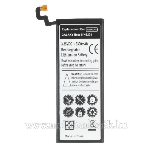 SAMSUNG SM-N920C Galaxy Note 5. akkumulátor - 3300mAh Li-ION - (EB-BN920ABE utángyártott)