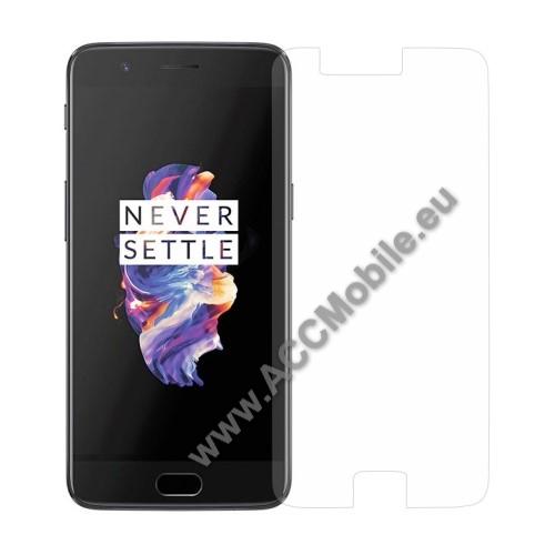 Elõlap védõ karcálló edzett üveg - 0,3 mm vékony, 9H, Arc Edge - OnePlus 5