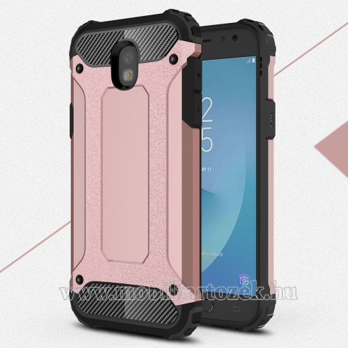 OTT! MAX DEFENDER műanyag védő tok / hátlap - ROSE GOLD - szilikon belső, ERŐS VÉDELEM! - SAMSUNG SM-J530 Galaxy J5 (2017)