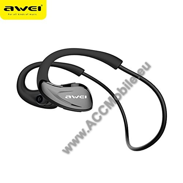 AWEI A880BL Sztereó Sport Bluetooth headset - V4.1, NFC párosítás, fülre akasztható - FEKETE