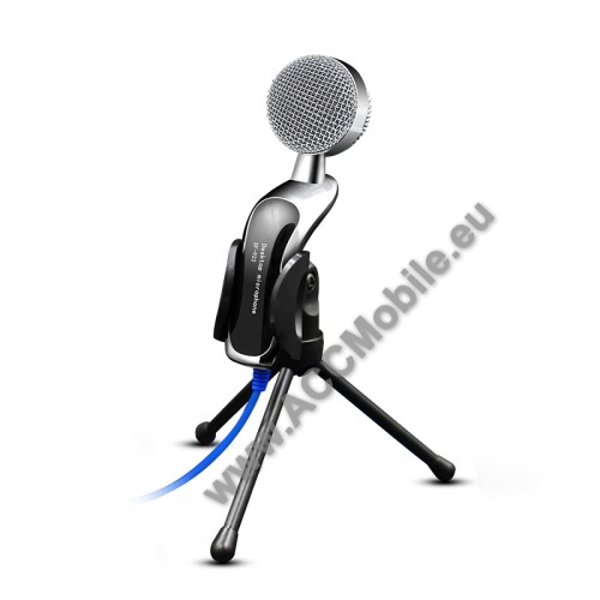 YANMAI SF-922B Professzionális asztali mikrofon, USB csatlakozó, 1,2m vezeték, összecsukható állvány - GYÁRI
