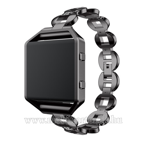 Fém okosóra szíj - FEKETE - Fitbit Blaze