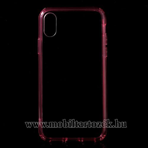 Műanyag védő tok / hátlap - MAGENTA - szilikon szegély - APPLE iPhone X / APPLE iPhone XS