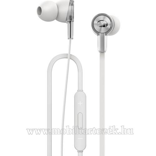 HUAWEI Honor AM15 sztereo headset - FEHÉR - 3,5mm jack, mikrofon, felvevő és hangerő szabályzó gombok - GYÁRI